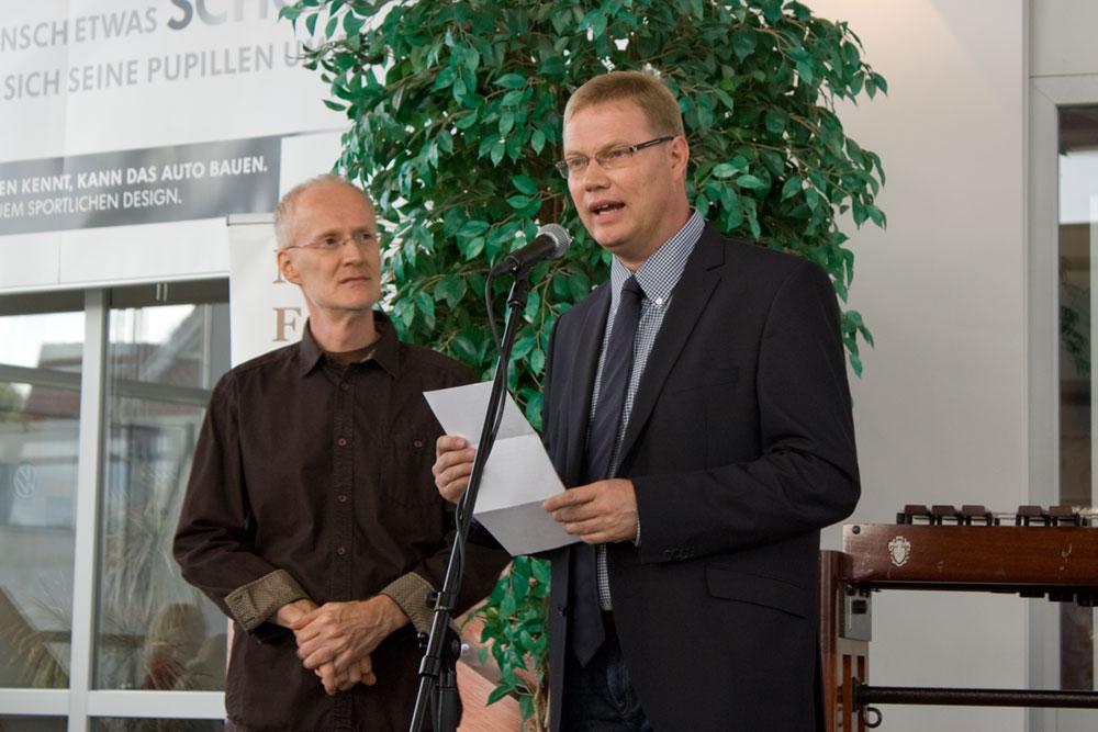 Begrüßung durch Manfred Menke und Markus Ruhe