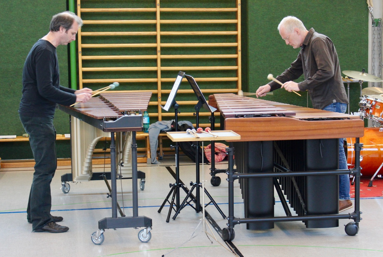 Marimba-Duo · Manfred Menke und Hans-Peter Krause