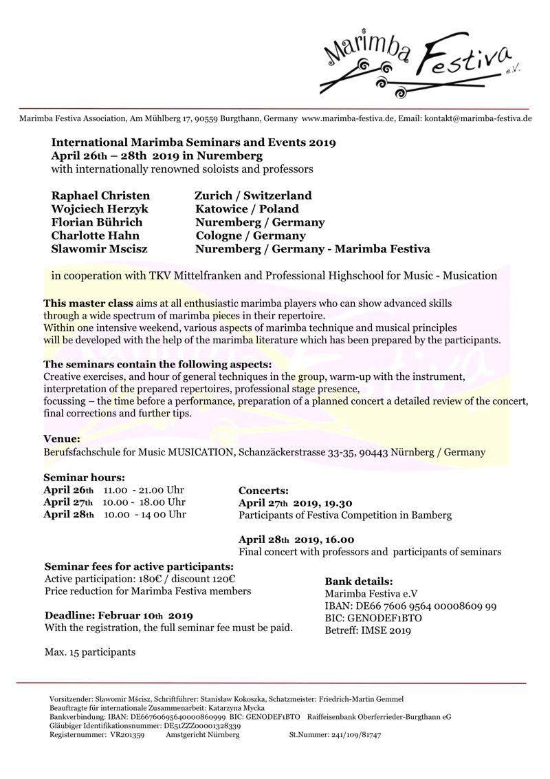 Rules Seminars · IMSE 2019